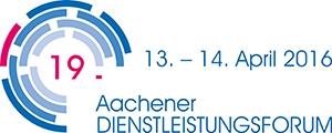 Logo des 19. Aachener Dienstleistungsforums 2016