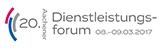 Das Logo des 20. Aachener Dienstleistungsforums 2017